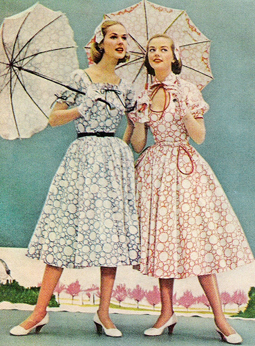 What was the fashion in 1950s 55